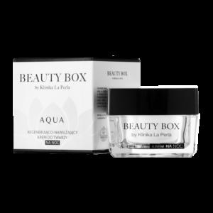 Ultranawilżający krem do twarzy na noc Aqua Beauty Box by Klinika La Perla