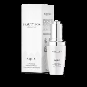 Nawilżające serum z kwasem hialuronowym Aqua Serum Beauty Box by Klinika La Perla
