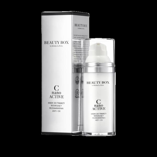 Redukujący przebarwienia krem C Nano Active Beauty Box by Klinika La Perla