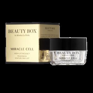 Krem konturujący okolice oka i ust z nanocząsteczkami złota i srebra Miracle Cell Beauty Box by Klinika La Perla