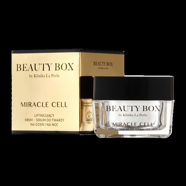Liftingujący krem-serum Miracle Cell Beauty Box by Klinika La Perla